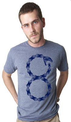 CLOCKWORK GEARS APPAREL T-SHIRT CWG SNAKE CHAIN MEN SMH-GREY