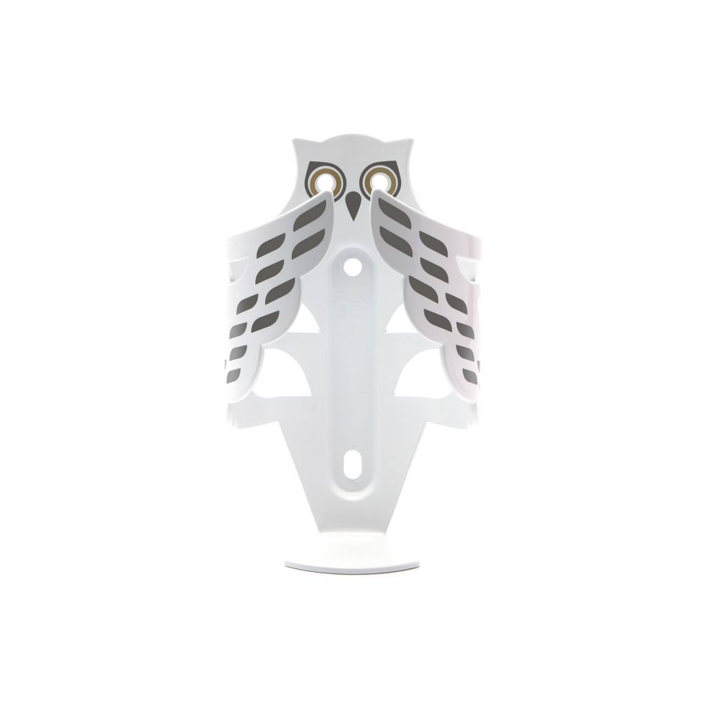 BOTTLE CAGE Portland Design Works Snowy Owl White