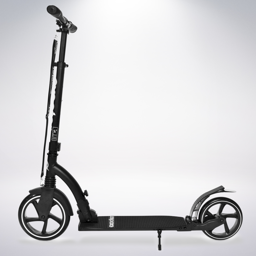 Exooter KICK SCOOTER EXOOTER M6 Adult w/ Dual Suspension Shocks, Big Wheels, Black