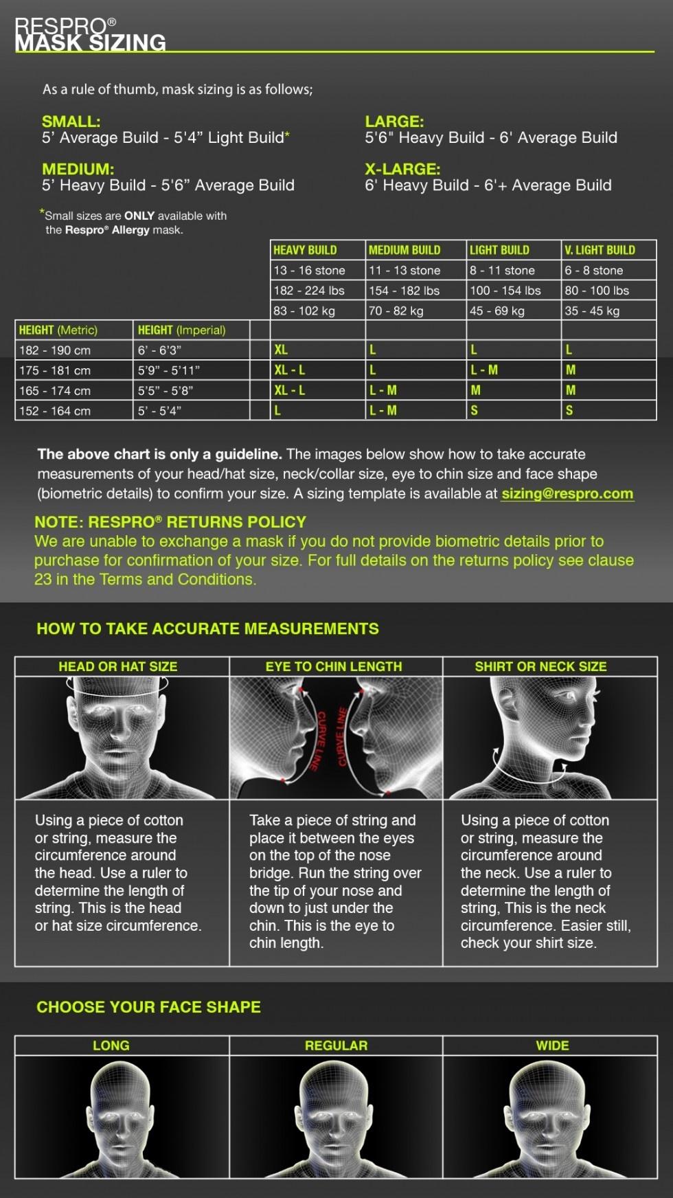 Respro MASK Respro Ultralight Black Medium