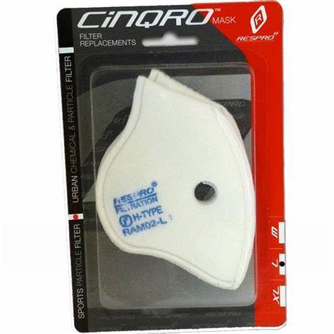 Respro MASK Respro Cinqro Sport FILTER Pack of 2 Medium