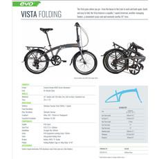Evo BIKES Folding EVO Vista City Chelsea Gray OS