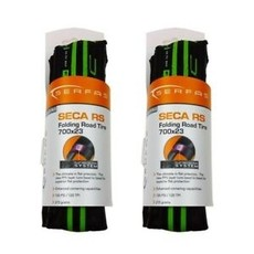 TIRES FOLD 700x23 SERFAS SECA W/FPS GREEN
