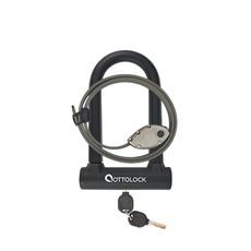 "OTTOLOCK LOCK OTTOLOCK SIDEKICK Bundle - Compact U-Lock and 30"" Cinch Lock, Black"