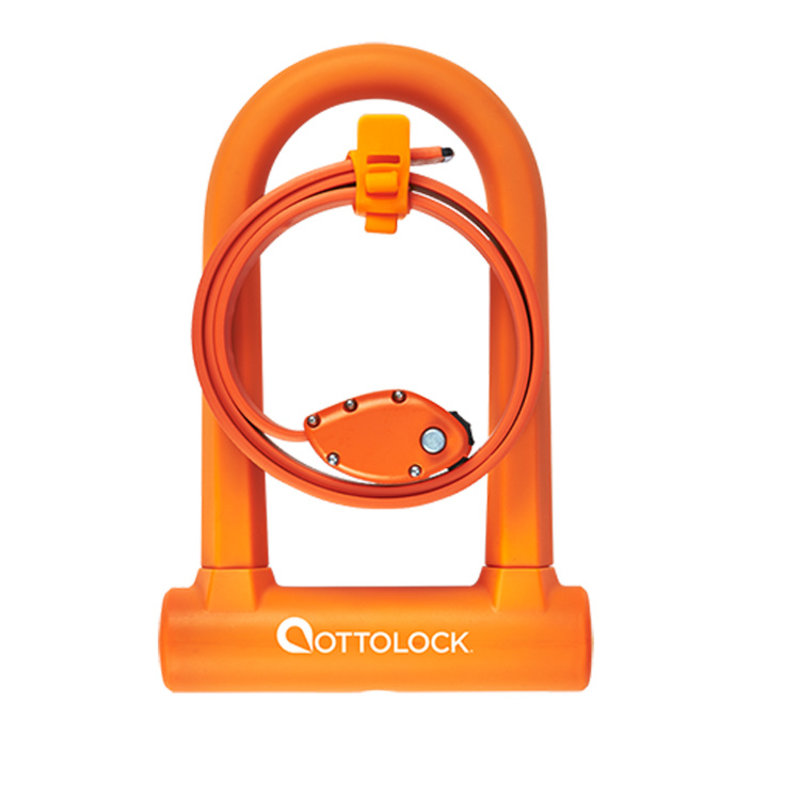 "OTTOLOCK LOCK OTTOLOCK SIDEKICK Bundle - Compact U-Lock and 30"" Cinch Lock, Black"
