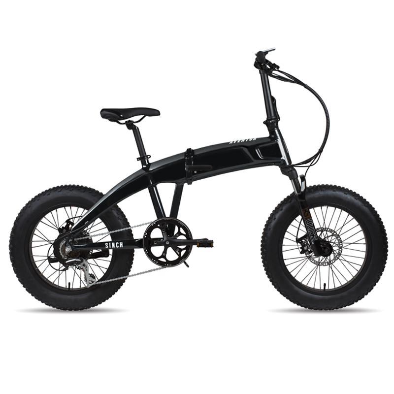 ELECTRIC BIKE AVENTON SINCH - FOLDABLE ONE SIZE Slick Black 48V