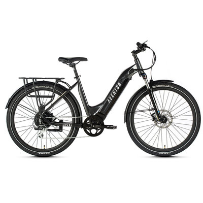 ELECTRIC BIKE AVENTON LEVEL Step-through Commuter - Earth Grey - Med/Large