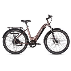 ELECTRIC BIKE AVENTON LEVEL Step-through Commuter - Rose Gold - Med/Large