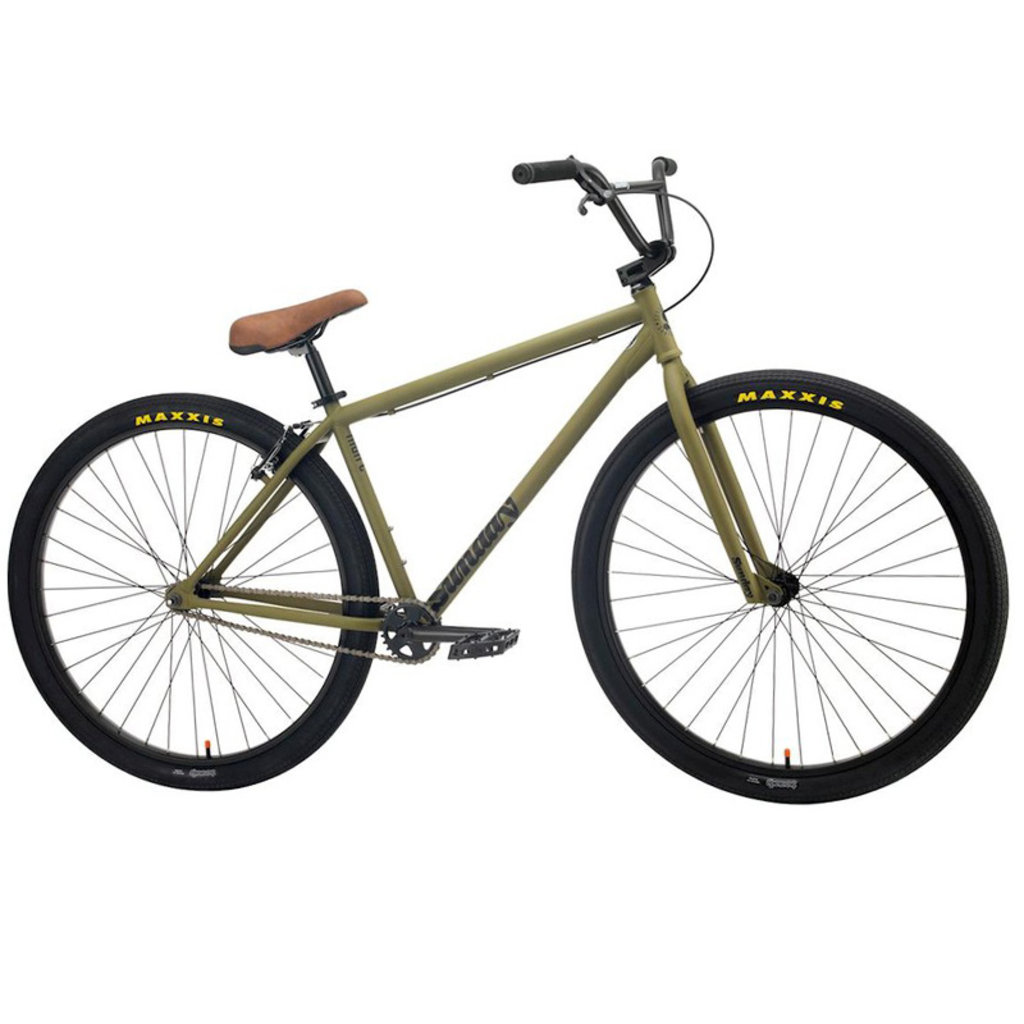 "Sunday BIKES 2021 SUNDAY High-C 29"" BMX Bike - 23.5"" TT, Matte Army Green"