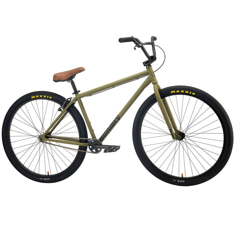 "Sunday BIKES 2021 SUNDAY High-C 29"" BMX Bike - 23.5"" TT, Matte Army Green"