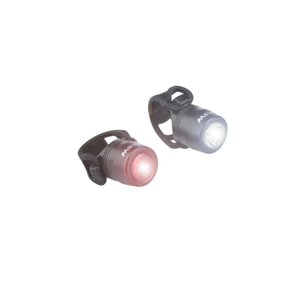 LIGHT SET USB MSW HTL-032 Cricket Headlight/Taillight Set Black