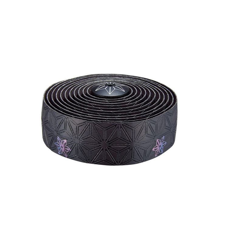 SUPACAZ HANDLEBAR TAPE & PLUGS SUPACAZ SUPER STICKY KUSH GALAXY PRINT OIL-SLICK/BK