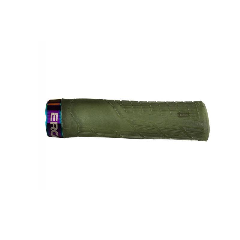 Ergon Ergon GE1 Evo Factory Grips - Frozen Moss/Oil Slick, Lock-On