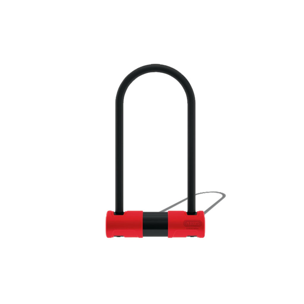 "ABUS LOCKS U-LOCK ABUS 440A Alarm 4.2 x 6.3"" Keyed Black/Red w/bracket"