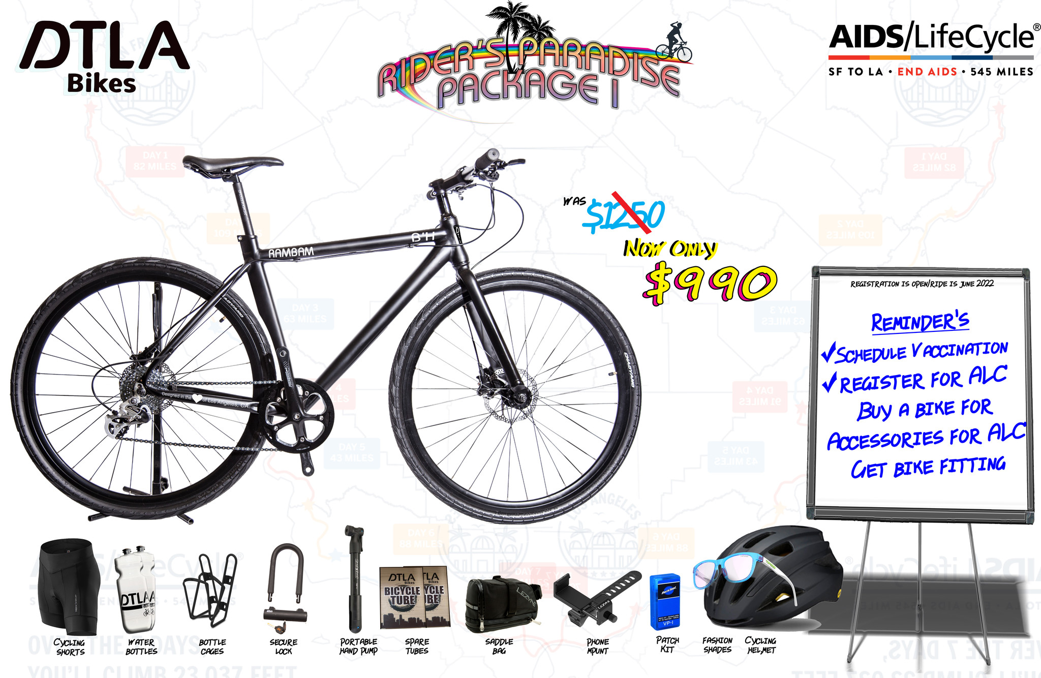 Click to view the non-road bike ride package 1