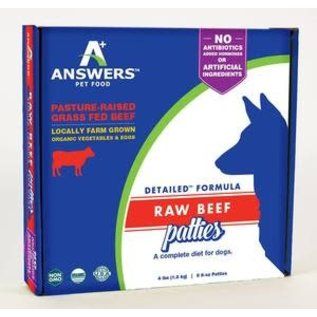 Answers Answers - Detailed Beef Patty 8oz/4#