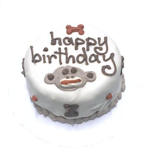 Pleasant Bubba Rose Sock Monkey Birthday Cake Fur Babies Funny Birthday Cards Online Barepcheapnameinfo