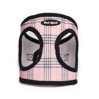 Bark Appeal Bark Appeal - Mesh Step In Pink Plaid XXL