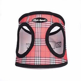 Bark Appeal Bark Appeal - Mesh Step In Red Plaid Large