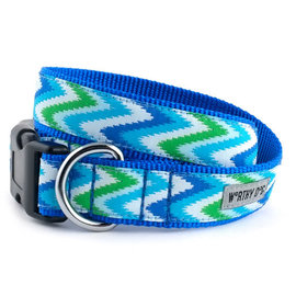 worthy dog Worthy Dog - Static Chevron Blue Medium