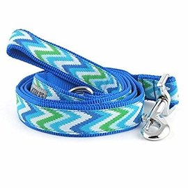 worthy dog Worthy Dog - Static Chevron Blue 5/8x5 Leash