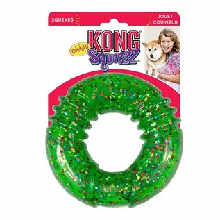 Kong - Confeti Squeezz Ring Large