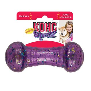 Kong - Squeezz Confetti Dumbbell Large
