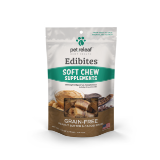 Pet Releaf Pet Releaf - Editbites Soft Chew Peanut Butter & Carob Swirl Trial 2.25oz