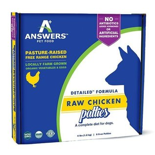 Answers Answers - Detailed Chicken Patty 8oz/4#