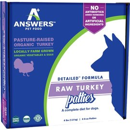Answers Answers - Detailed Turkey Patty 8oz/4#