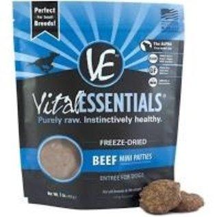 Vital Essentials Vital Essentials - Freeze Dried Beef Mini Patties 1#