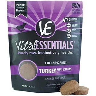 Vital Essentials Vital Essentials - Freeze Dried Turkey Mini Patties 1#