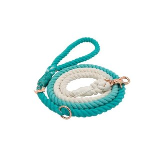 Sassy Woof Sassy Woof - Rope Leash Ombre Teal