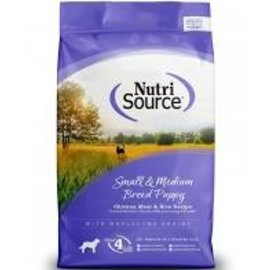 Nutrisource & Pure Via Nutrisource - Small Med Breed  Puppy Chicken & Rice 5#