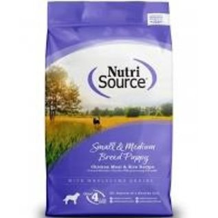Nutrisource - Small Med Breed  Puppy Chicken & Rice 5#
