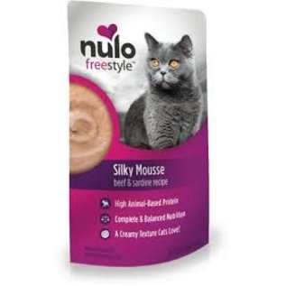 Nulo Nulo - Beef & Sardine Silky Mousse Cat Pouches 2.8oz