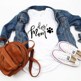 Top Crate - Dog Mom T Shirt XL