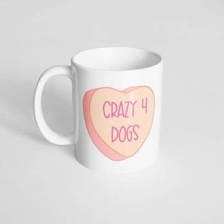 The Dapper Paw Dapper Paw - Crazy 4 Dogs 11oz mug