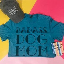 The Dapper Paw Dapper Paw - Badass Dog Mom Shirt Large