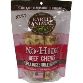 "Earth Animal No Hide - Beef Chew 4"" 2 pack"