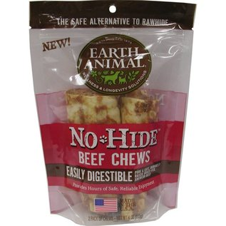 """Earth Animal No Hide - Beef Chew 4"""" 2 pack"""