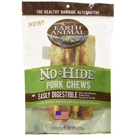 "Earth Animal No Hide - Pork Chew 4"" 2 Pack"