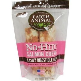 "Earth Animal No Hide - Salmon Chew 7"" 2 Pack"