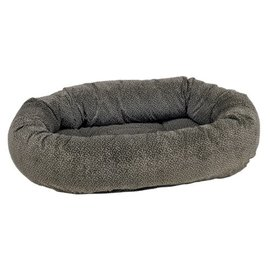 Bowsers - Donut Bed Pewter Bones Small