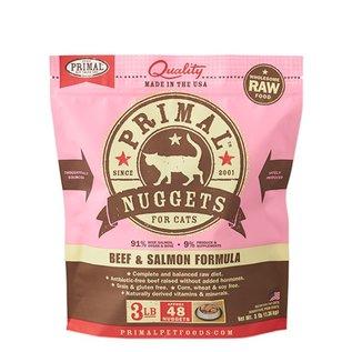 Primal Primal - Feline Beef & Salmon Nuggets 3#