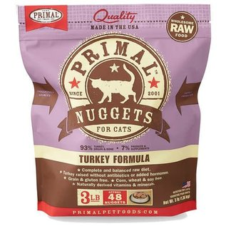 Primal Primal - Feline Turkey Nuggets 3#