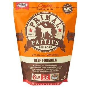 Primal Primal - K9 Beef Patties 6#