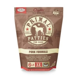 Primal Primal - K9 Pork Patties 6#