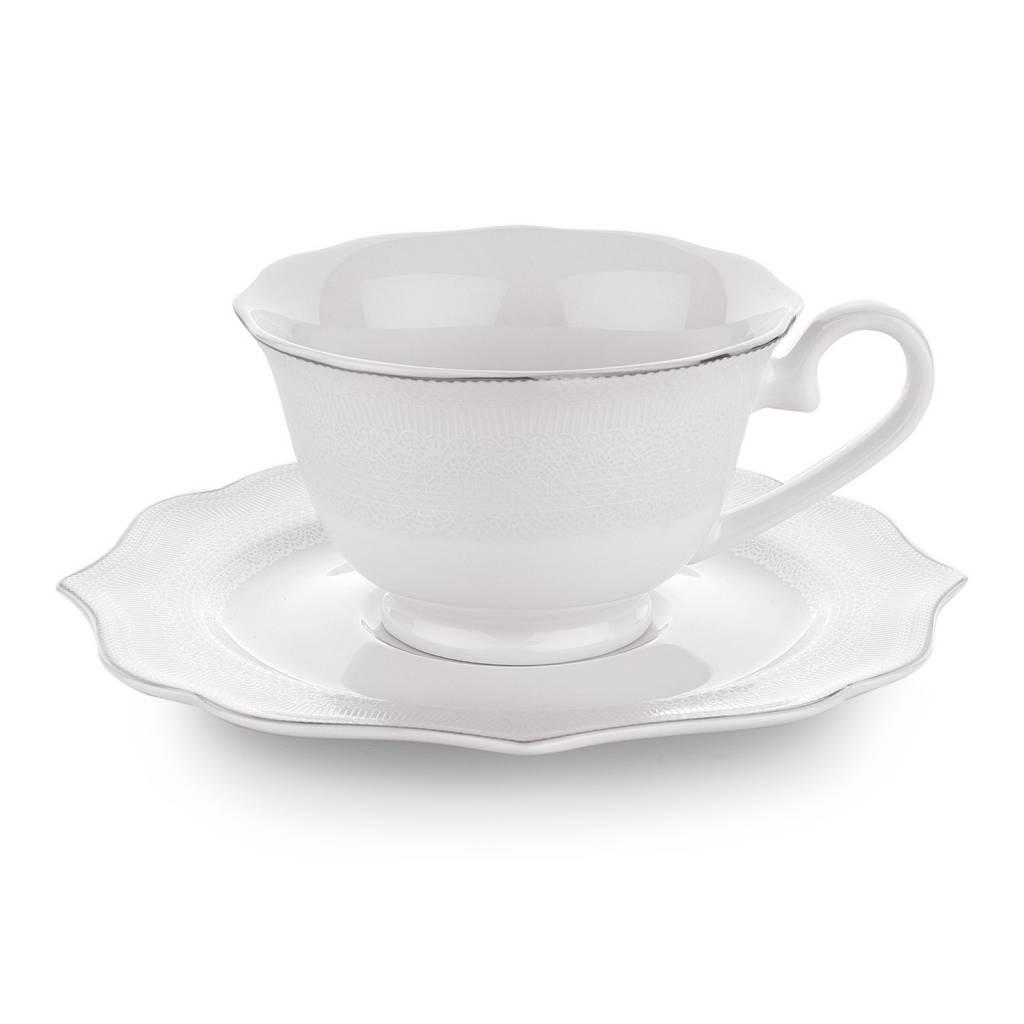Dantella Coffee Cup Set 12pc White