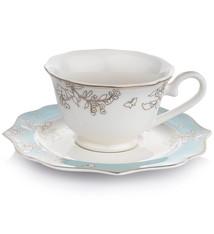 Dantella Tea Cup Set 12pc Blue